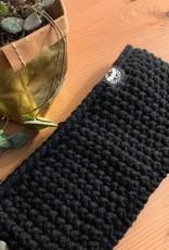Motte Stirnband- Grobstrick schwarz