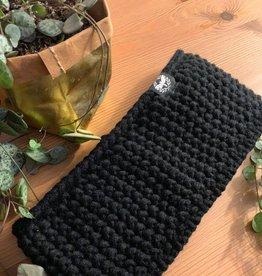 Motte Stirnband Grobstrick  black
