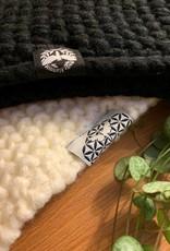 Motte Stirnband- Grobstrick weiß
