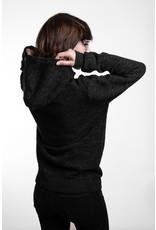 Unisex Strick- Hoody -anthrazit