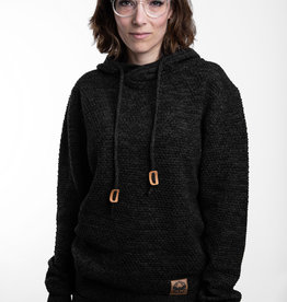 Knit- Hoodie -anthracite