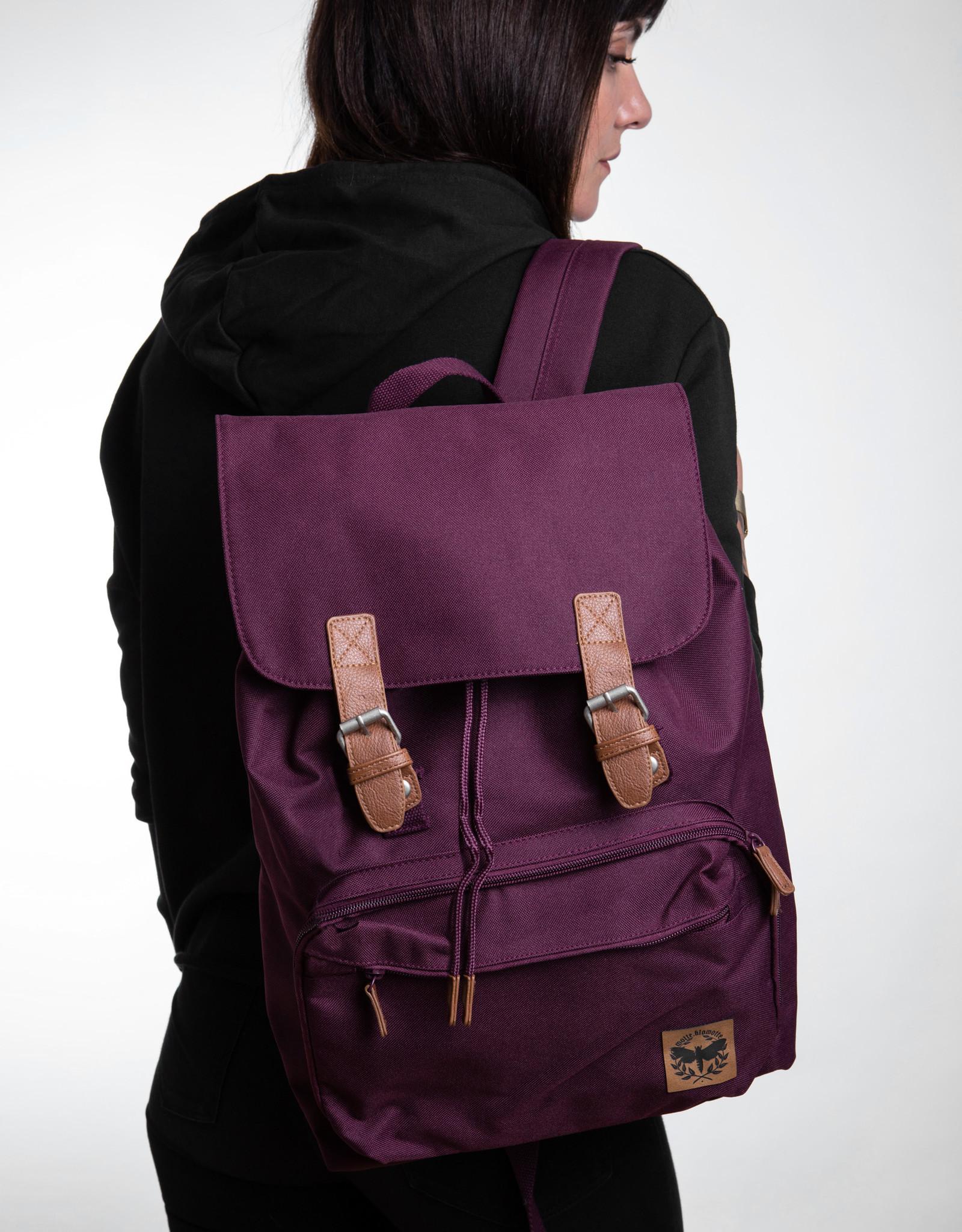 Motte Laptop Rucksack - burgund