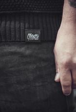 Unisex Strick Sweater -grob -schwarz