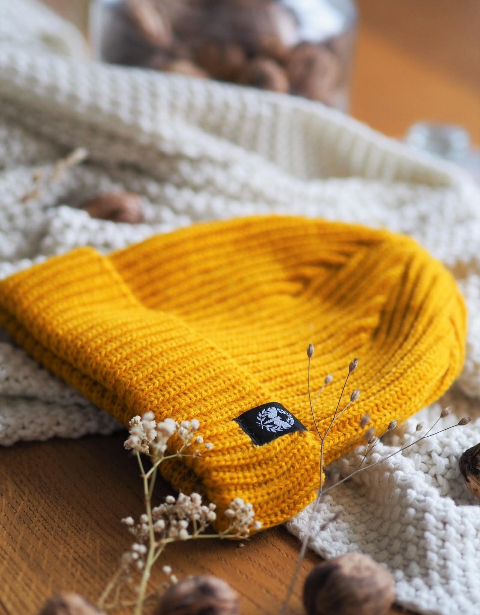 Motte Beanie mustard Sailor style