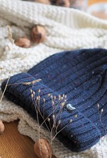 Motte Beanie navy-dotted