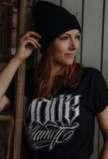 Motte Lettering Shirt -schwarz