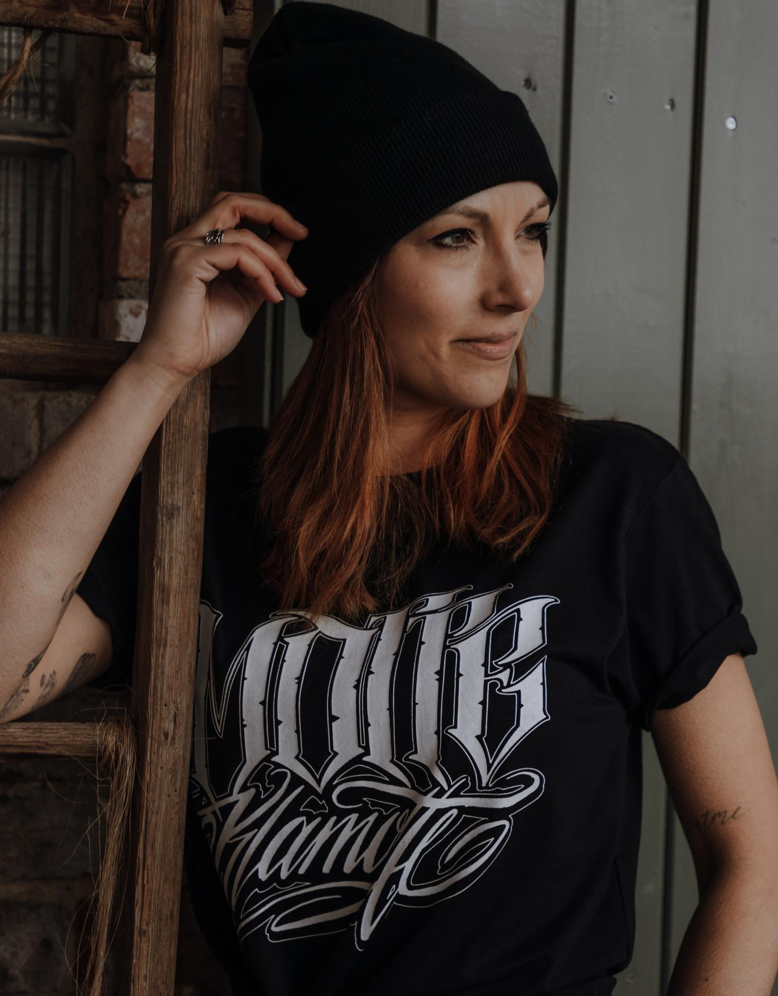 Motte Lettering Shirt -black