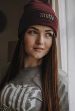 Motte beanie bordeaux with embroidered lettering