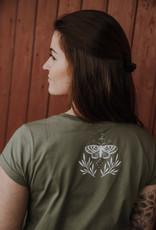 Motte Blättchen Shirt -oliv