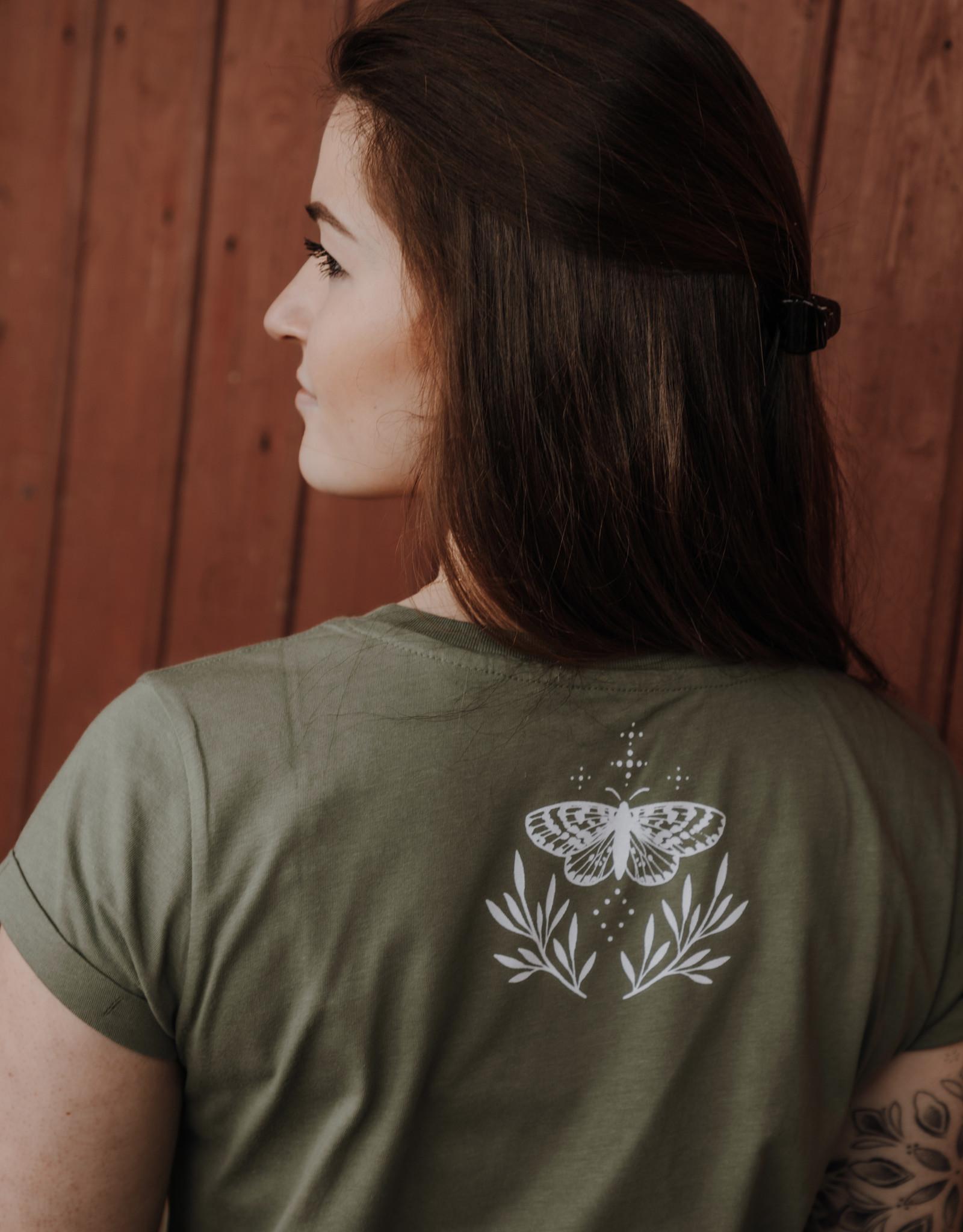 Motte Leaves Shirt -olive