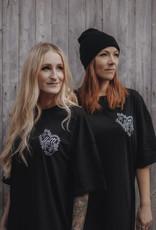 Motte Traditional Heart T-Shirt Kleid -schwarz