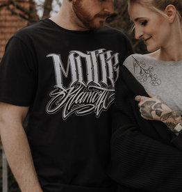 Motte Lettering Shirt-black