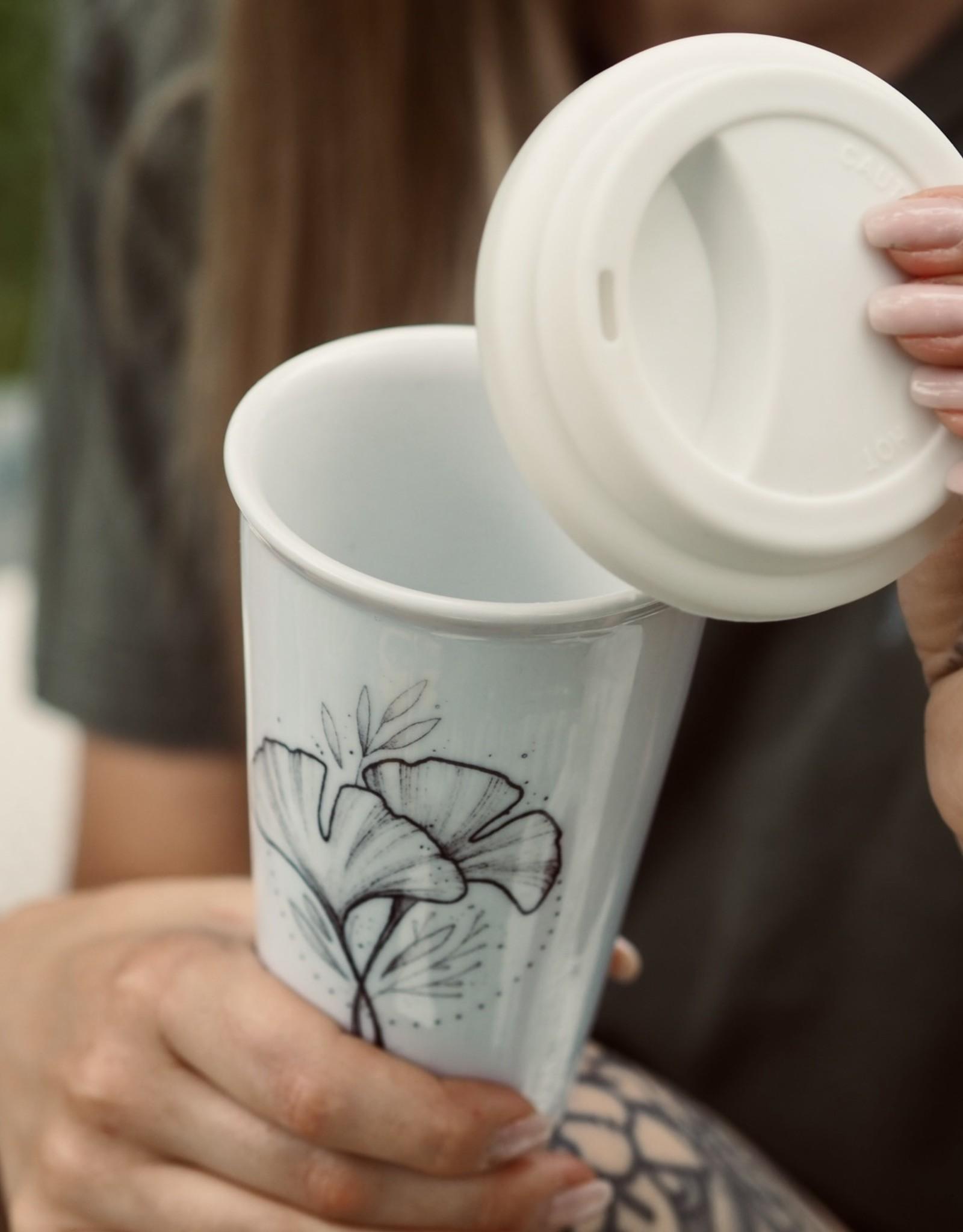 Ginkgo To-Go Porcellian Mug
