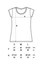 Tencel T-Shirt schwarz, mit tailliertem Schnitt und kurzen Ärmeln