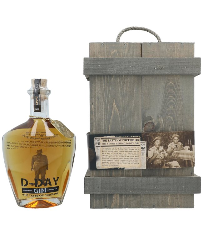 D-Day Gin Gold Edition 75th Anniversary + Wooden Giftbox