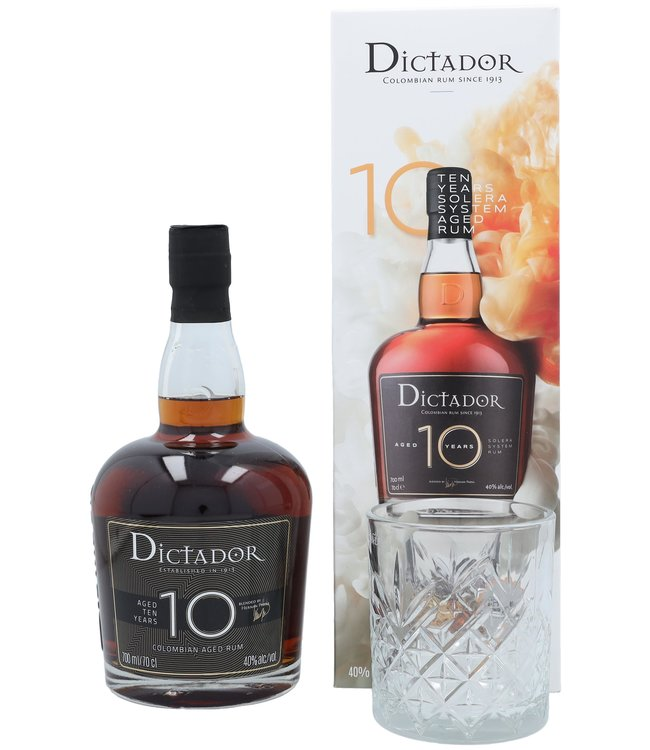 Dictador 10 Years + Glass