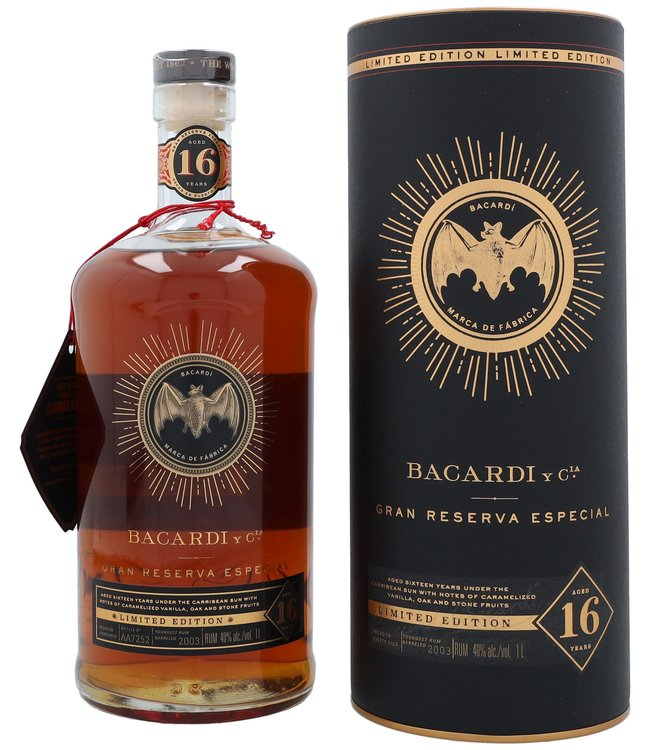 Bacardi Gran Reserva Especial 16 Years Limited Edition 1,00 ltr