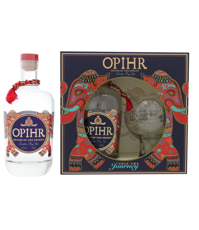 Opihr Spices of the Orient Giftset + Globe Glass 0,70 ltr 42,5%