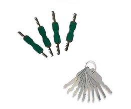 Lockpick 4-teiliges Vorhängeschloss-Set + 7-teiliges Jiggler-Set