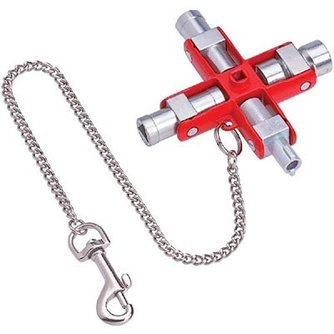 Slagschulussel Schaltschrank-Schlüssel Knipex - Switch box key Knipex