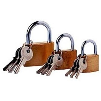 Lockpick 3-teiliges Vorhängeschloss Set