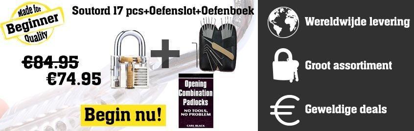 Soutord 17 pcs + oefenslot + oefenboek Banner
