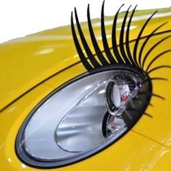 J&S Supply Wimpers voor Auto Koplampen 3D Zwart 2 Stuks