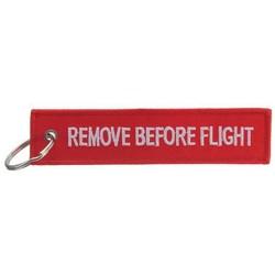 """Supply Sleutelhanger met Tekst """"Remove Before Flight"""""""