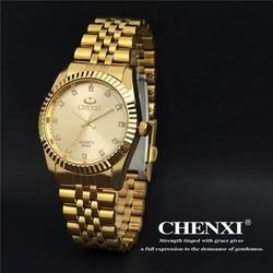JS CHENXI CX-004A Herenhorloge Roestvrij Staal met Kristallen