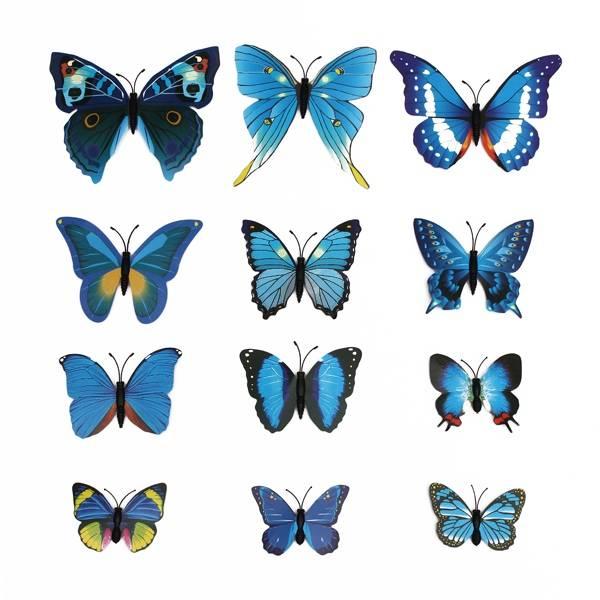 Decoratie Vlinders 3D Stickers Magneet