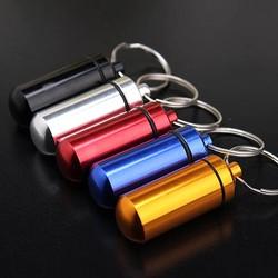 J&S Supply Zilveren Pillendoosje voor Aan Sleutelhanger