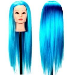 Supply Oefenhoofd Kapper met Blauw Haar