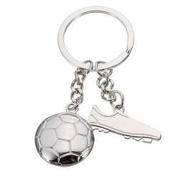 Supply Sleutelhanger Voetbal World Cup Zilverkleurig
