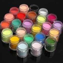 Supply 24 Kleuren Acryl Poeder voor Nail Art