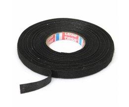 Zwarte Textiel plakband