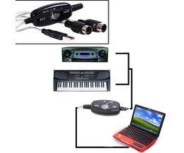 USB MIDI Interface Kabel PC naar Keyboard