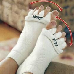 J&S Supply Witte Massage Teen Sokken