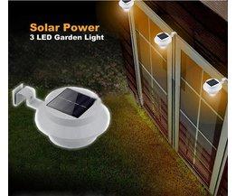 Solar LED Tuinverlichting Schutting Lamp