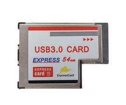 Express Card 54mm met 2 USB Poorten