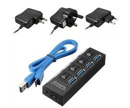 Hub USB 3.0 met 4 Poorten