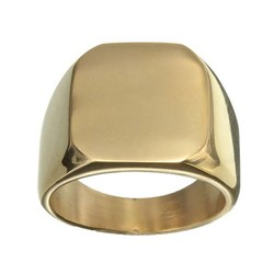 Supply Stoere Goudkleurige Ring van Titanium/Staal voor Mannen