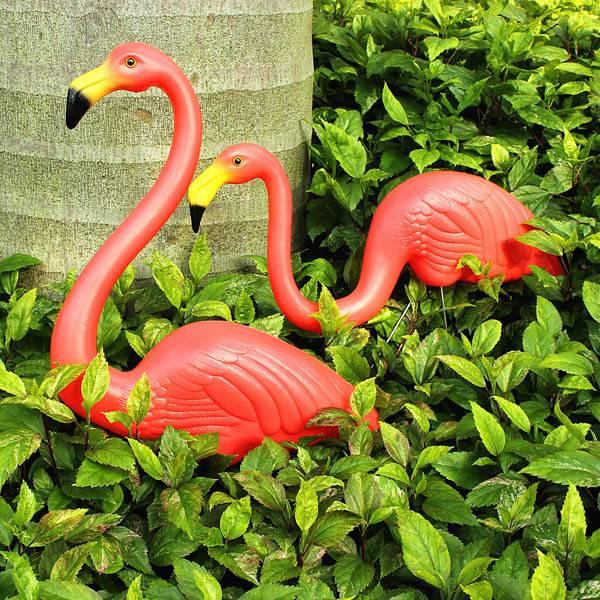 Flamingo Decoratie 2 Stuks