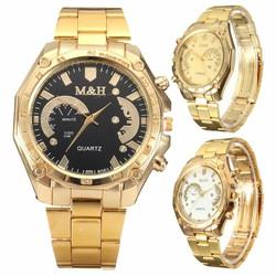 JS Modieus Goudkleurig Horloge met Roestvrijstalen Bandje