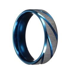 Supply Blauw Zilveren Ring Voor Mannen
