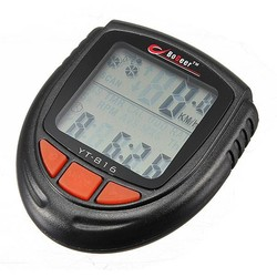 J&S Supply Waterbestendige LCD Fiets Snelheidsmeter