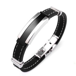 Supply Zwartzilveren Armband Voor Mannen
