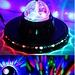 Discobal Met LED-verlichting En Roterend