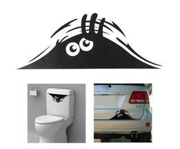 Monster Sticker voor aan Muur & Auto