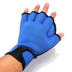 Supply Zwemhandschoenen In het Zwart En Blauw