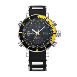 JS Weide WH5203 Analoog-Digitaal Herenhorloge met Rubberen Bandje